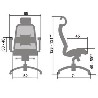 """Компьютерное кресло """"SAMURAI SL3.04"""""""
